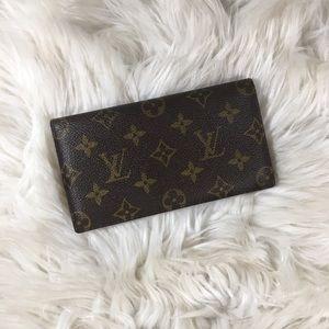 Louis Vuitton Checkbook Wallet Brown Monogram